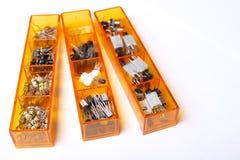 Ящики электрических деталей Стоковые Изображения