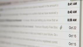 Ящик входящей почты электронной почты видеоматериал
