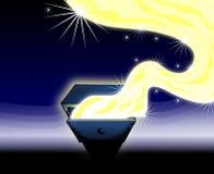 Ящик желания в голубых тонах иллюстрация вектора