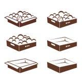 Ящик коробки абстрактный упаковывая vegetable Стоковые Изображения
