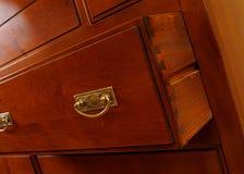ящик крупного плана вспомогательного оборудования коричневый Стоковые Изображения RF