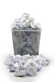 Ящик отброса с отходом бумаги Стоковое Изображение