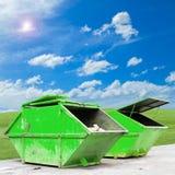 Ящик отбросов производства & x28; dumpster& x29; для муниципальных отходов или industria стоковые изображения rf