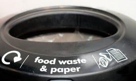 Ящик пищевых отходов и бумаги Стоковая Фотография