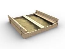 ящик с песком 3d иллюстрация штока