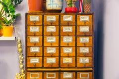Ящик для хранения карточк на офисе Стоковое фото RF