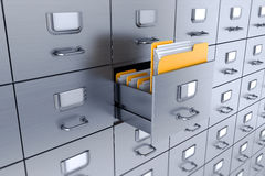 Ящик для хранения карточк 3D изолированный на белой предпосылке бесплатная иллюстрация