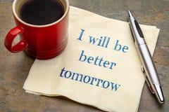 Я буду лучшим завтра стоковое фото rf