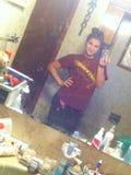 Я в ванной комнате стоковое фото rf