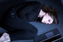 Я лежу здесь больной и утомленный Стоковые Фотографии RF