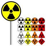 Ядерный значок символа - иллюстрация вектора Стоковые Фото