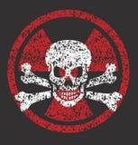 Ядерный символ черепа иллюстрация вектора