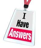 Я имею помощь экспертного знания работника значка ответов бесплатная иллюстрация