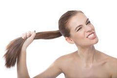 Я имею сильные волосы Стоковое фото RF
