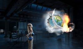 Я исследую космос Мультимедиа Стоковая Фотография
