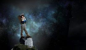 Я исследую космос Мультимедиа стоковые фотографии rf