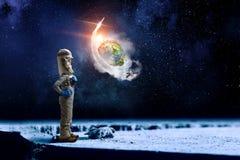Я исследую космос Мультимедиа стоковое фото rf