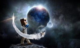 Я исследую космос Мультимедиа стоковые изображения rf