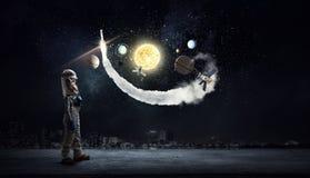 Я исследую космос Мультимедиа Стоковые Изображения
