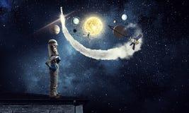 Я исследую космос Мультимедиа Стоковые Фото