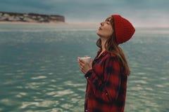Я и мой кофе стоковые фотографии rf