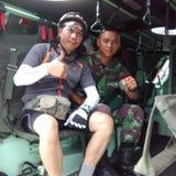 Я и солдат стоковое изображение rf
