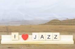 Я люблю джаз стоковая фотография