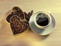Я люблю кофе стоковое фото