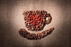 Я люблю кофе стоковое изображение