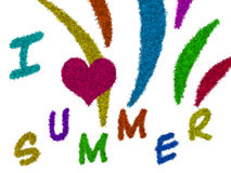 я люблю лето Стоковое фото RF