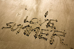 Я люблю лето Стоковое Фото
