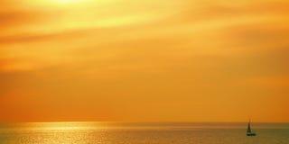 Я люблю морской заход солнца Стоковые Фотографии RF