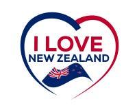 Я люблю Новую Зеландию стоковая фотография