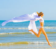 я люблю побежать белый ветер Стоковые Изображения