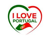 я люблю Португалию стоковые изображения