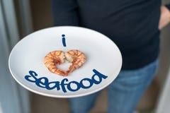 Я люблю продукты моря Стоковое Изображение