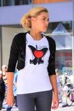 Я люблю рубашку ботинок Стоковые Фото