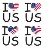 Я люблю США Стоковая Фотография RF