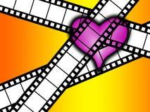 Я люблю фильм Стоковые Изображения RF