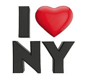 Я люблю New York Стоковое Изображение