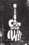 Я могу и я буду Мотивационный плакат grunge Стоковые Изображения