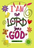 Я лорд Ваш Бог иллюстрация вектора