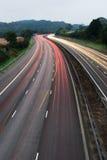 я освещаю m6 тропки Великобритания Стоковые Фото