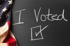 я подписываю проголосовано Стоковое Изображение RF