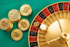 Я положил дальше казино bitcoin стоковые фото