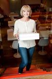 Я получил мой пакет пиццы стоковые фото