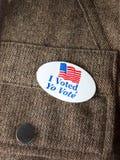 Я проголосовал sticker2 Стоковые Фотографии RF