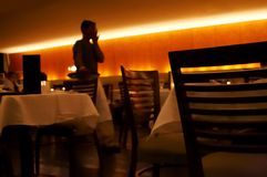 я ресторан встречи стоковое изображение