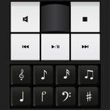Ядровая клавиатура управления и вектор примечаний музыки Стоковая Фотография RF