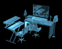 Ядровая студия инженерства Стоковые Фото